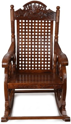 CRUZ INTERNATIONAL Solid Wood 1 Seater Rocking Chairs(Finish Color - POLISHED)