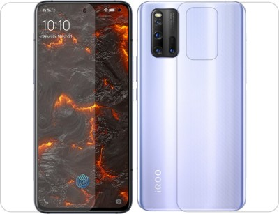 DCASE Front and Back Tempered Glass for Vivo iQOO 3(Pack of 2)
