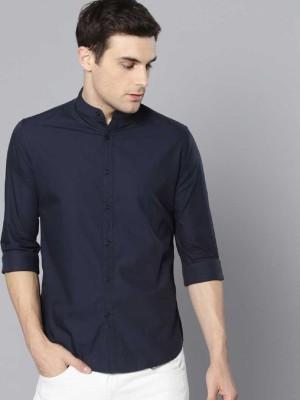 Availkart Men Solid Casual Dark Blue Shirt