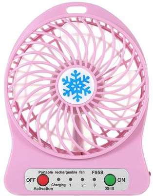 Blue Birds Super Mini Portable, Battery Operated Powerful Rechargeable 4956+02 USB Fan, USB Cable Pink Blue Birds Mobile Accessories