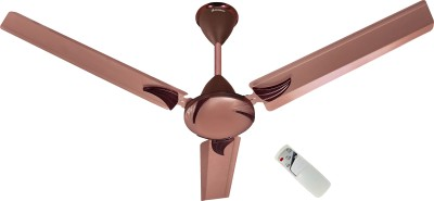 LONGWAY Creta rusty with remote 1200 mm 3 Blade Ceiling Fan  (Rusty Brown, Pack of 1)