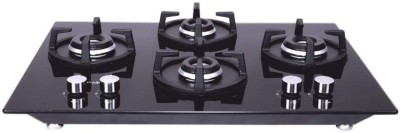 Whirlpool ELITE HYBRID 704 MT Glass Manual Gas Stove(4 Burners)