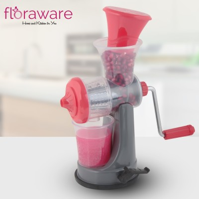 Floraware Plastic Hand Juicer Fruit & Vegetable Nano Manual Juicer , Red(Red Pack of 1)