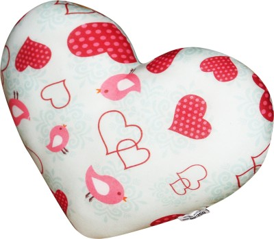 Oscar Home Microfibre Toons & Characters Cushion Pack of 1(White Red Heart Shape)