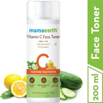 "MamaEarth ""Vitamin C Toner For Face, with Vitamin C & Cucumber for Pore Tightening 200 ml"" Men & Women(200 ml)"