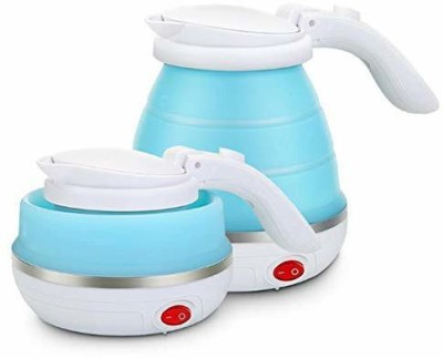 SURABHI Travel Fold-able Food Grade Electric Kettle Portable Silicone Collapsible Kettle 110-220V 650ML for Most Travel and Home & Office...
