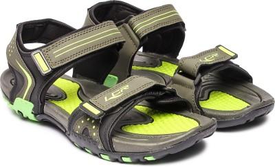LANCER EARTH 301 Men Olive Flats LANCER Sandals   Floaters