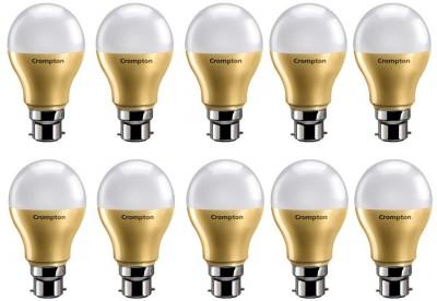 Crompton 9 W Round B22 LED Bulb (White, Pack of 10)