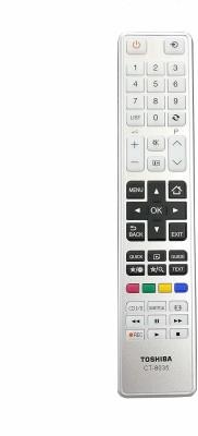 LipiWorld CT-8035 LCD LED Smart TV Remote Control Compatible for  Toshiba Remote Controller(Gray)