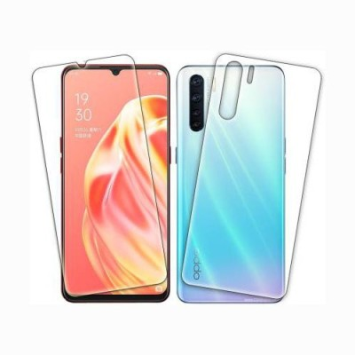 Fashion Way Front and Back Screen Guard for OPPO F15(Pack of 2)