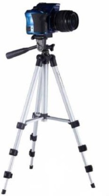 AONEQUALITY WORLD Halix-High Quality Professional Portable Adjustable Camera Tripod Holder Stand 3110 Tripod stand With 3-Way Head Digital Camera Tripod with Mobile Clip Holder Screw 360 Degree 3 Dimensional Head Tripod Mount Holder Clip Portable Aluminium Camera Stand Best Use for Make Videos on Ti