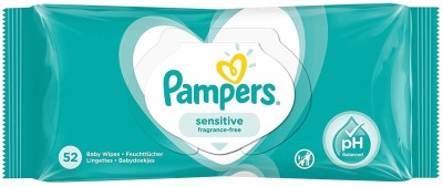 Pampers Sensitive Fragrance Free Baby Wipes 52's