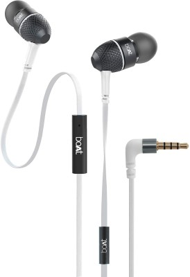 boAt BassHeads 228 Extra Bass with Pouch in Ear (White) Wired Headset Wired Headset(White, Wired in the ear)