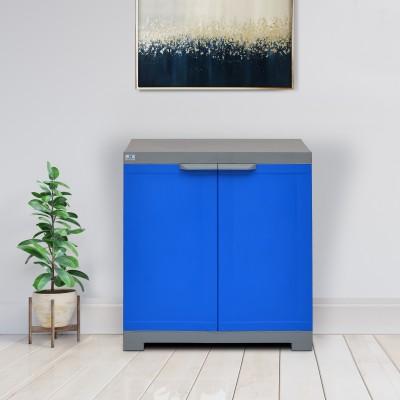 Nilkamal Freedom Mini Small (FMS) Plastic Free Standing Cabinet(Finish Color - Deep Blue & Grey)