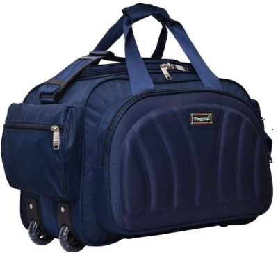 FEDRA (Expandable) Expandable Superior Good Quality Unisex Lightweight Waterproof Synthetic 50 L Blue Travel Duffel Bag Luggage with 2 Roller...