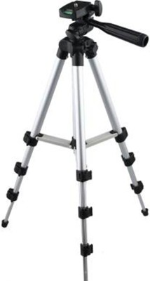 AONEQUALITY WORLD Halix world-High Quality Professional Portable Adjustable Camera Tripod Holder Stand 3110 stand With 3-Way Head Digital Camera Tripod with Mobile Clip Holder Screw 360 Degree 3 Dimensional Head Tripod Mount Holder Clip Portable Aluminium Camera Stand Best Use for Make Videos on Tik