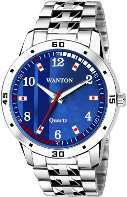 WANTON AM02A35 stainless steel chain shiny attractive blue stylish dial Analog Watch  - For Boys