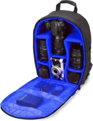 GOD BOY Shoulder Backpack to Carry DSLR SLR Lens Camera Bag  Camera Bag(Blue, Black)