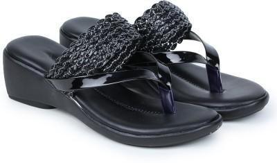 Naisha Women Black Wedges Naisha Wedges
