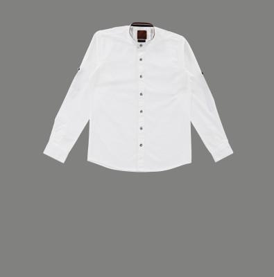 RODID Boys Solid Casual White Shirt RODID Kids' Shirts