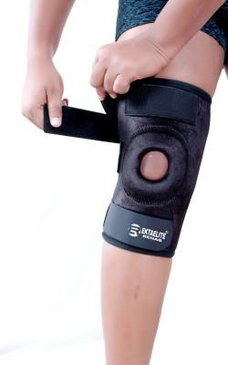 EKTAELITE Rehab Premium Compression muscle Joint Protection Hinges Non-Slip Open Patella Knee Support(Black)