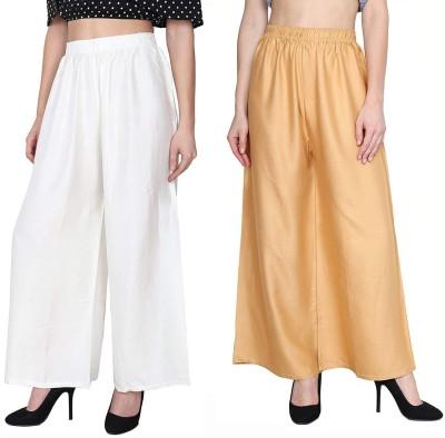 Oiskal Regular Fit Women White, Beige Trousers