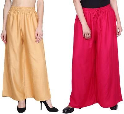 Oiskal Regular Fit Women Pink, Beige Trousers