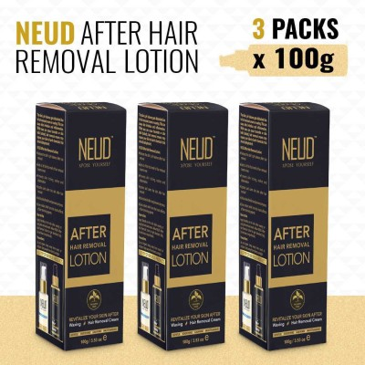 NEUD After Hair Removal Lotion for Skin Care in Men & Women – 3 Packs (100 gm each)(300 g)