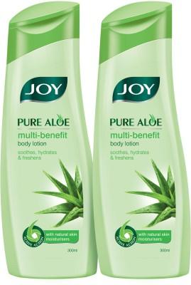 Joy Pure Aloe Multi-benefit Body Lotion 600 ml (Pack of 2 x 300 ml)(600 ml)