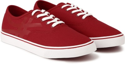 United Colors of Benetton. Canvas Shoes For Men(Red)