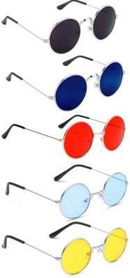 Elligator Round Sunglasses(Multicolor)
