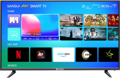 Sansui Pro View 109cm (43 inch) Ultra HD (4K) LED Smart TV  with Powered by dbx-tv Sound  (43UHDAOSP)