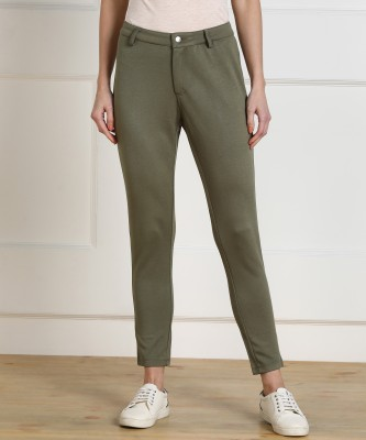 Honey by Pantaloons Regular Fit Women Green Trousers