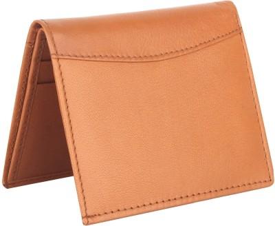 Urban Style Men Brown Genuine Leather Wallet 6 Card Slots