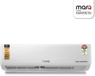 MarQ by Flipkart 1.5 Ton 5 Star Split Dual Inverter AC  - White(FKAC155SIAEXT, Copper Condenser)