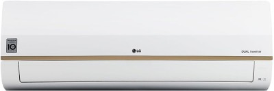 LG 1.5 Ton 5 Star Split Dual Inverter Smart AC with Wi-fi Connect - White(LS-Q18GWZA, Copper Condenser)