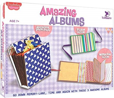 ToyKraft Scrapbooking - Amazing Albums Craft Kit for 7 year-olds and above
