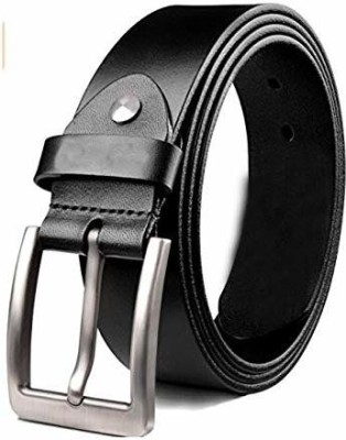 KAEZRI Men Casual Black Genuine Leather Belt