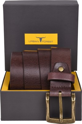 Urban Forest Men Casual Brown Genuine Leather Belt