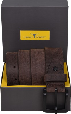 Urban Forest Men Casual, Evening Brown Genuine Leather Belt