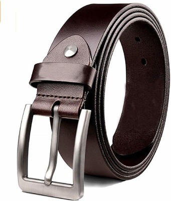 KAEZRI Men Casual Brown Genuine Leather Belt