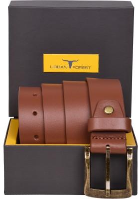 Urban Forest Men Casual Brown Genuine Leather Belt