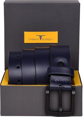 Urban Forest Men Casual Blue Genuine Leather Belt