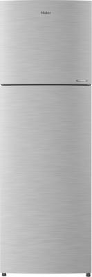 Haier 258 L Frost Free Double Door 3 Star Convertible Refrigerator(Dazzle Steel, HEF-25TDS)