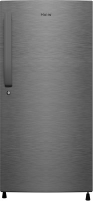 Haier 220 L Direct Cool Single Door 3 Star  2020  Refrigerator   Dazzle Steel/Brushline Silver, HED 22TDS