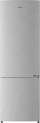 Haier 256 L Frost Free Double Door Bottom Mount 3 Star Convertible Refrigerator(DAZZLE STEEL, HEB-25TDS)