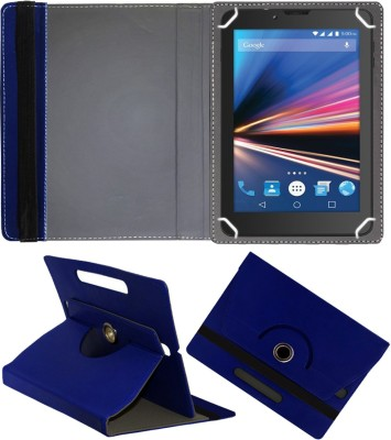 Fastway Flip Cover for Lava Ivory Plus 4G 7 inch with 4G Tablet(Blue, Cases with Holder)