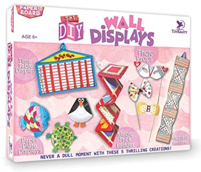 ToyKraft 5 in 1 Wall Displays DIY Project Kit for 6 year-olds and above