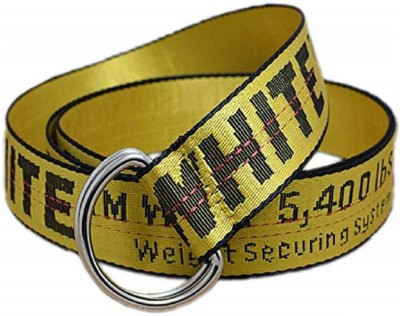 M Mensanity Men & Women Casual Yellow Canvas Belt