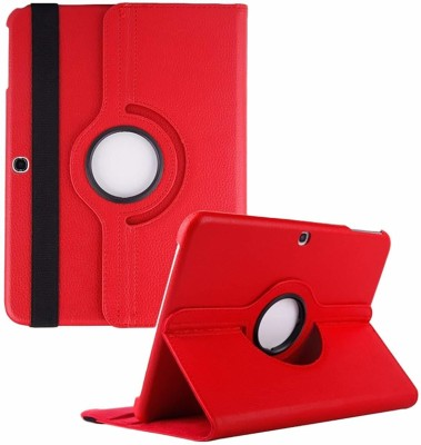 TGK Book Cover for Samsung Galaxy Tab 4 10.1 Inch Sm-T530, T531, T535, T537 360 Degree Rotating Leather Smart Case(Red, Cases with Holder)